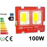 Cumpara ieftin Proiector LED 100w Slim Exterior Gradina Proiectoare casa 100 w
