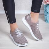 Pantofi Piele dama gri Codelani