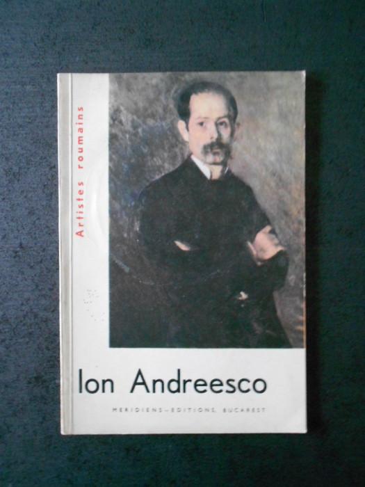 ARTISTES ROUMAINS - ION ANDREESCO (limba franceza)