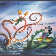 DB Disney Antigua si Barbuda Jules Verne  SS II MNH