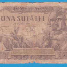 (6) BANCNOTA ROMANIA - 100 LEI 1947 (25 IUNIE 1947)