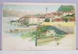 A.D. XENOPOL CATRE ELIZA XENOPOL * , CARTE POSTALA ILUSTRATA , CROMOLITOGRAFIE , HOTEL DE LA GRANDE BRETAGNE CIRCULATA , CLASICA , 1900