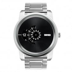 Ceas Barbatesc SKMEI B 101 Fashion, Cadran 5CM ,Argint