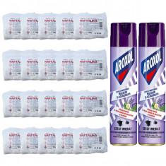 20 x Naftalina praf / cristale 20 x 50g + 2 x Aroxol spray anti-molii lavanda