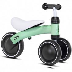 Tricicleta fara pedale Mini Kazam Kzmmini, 3 roti, 12 luni+, Verde