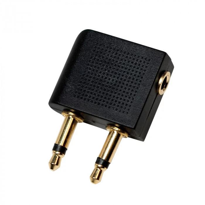 """ADAPTOR audio LOGILINK convertor stereo (2 x 3.5 mm jack T la 1 x 3.5 mm jack M) negru """"CA1089"""""""
