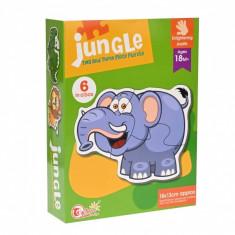 Puzzle Animalute din jungla, cu 2 si 3 piese - 88062