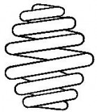 Arc spiral VW TRANSPORTER IV bus (70XB, 70XC, 7DB, 7DW, 7DK) (1990 - 2003) SACHS 996 492