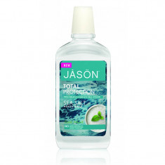 Apa de gura cu sare de mare Total Protection, Jason, 473ml