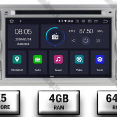 NAVIGATIE FORD FOCUS MONDEO S MAX Transit Tourneo ANDROID 9 Octacore PX5 4GB RAM + 64GB ROM CU DVD 7 INCH AD BGWFORDD7P5 S
