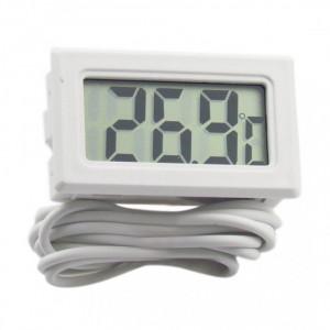 Termometru digital cu fir / sonda, pt. auto,casa, frigider, alb