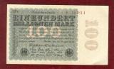 Bancnota Germania  -  REICHSBANKNOTE   - 100.000.000 MARK  1923