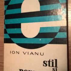 Ion Vianu - Stil si persoana (Editura Cartea Romaneasca, 1975)