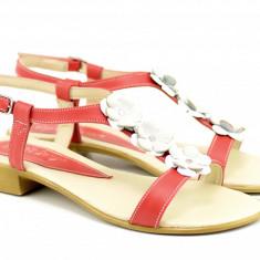 Sandale dama din piele naturala - SCORAROSU