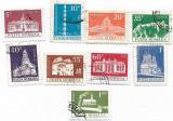 Monumente - uzuale (valori mici), 1973 - valori obliterate, Arhitectura, Stampilat