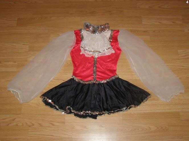 costum carnaval serbare rochie dans balet pentru copii de 9-10 ani