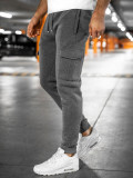 Cumpara ieftin Pantaloni de trening cargo gri bărbați Bolf JX8710