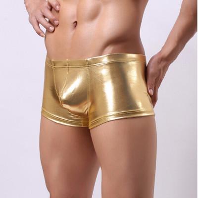 Boxeri barbati material lucios - stretch - auriu - sexy foto