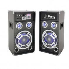 Sistem Boxe Party Sound, 600W, Bluetooth, USB/SD, negru