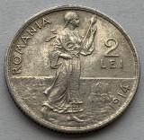 2 Lei 1914 Hamburg, Argint, Romania a UNC, Luciu de batere