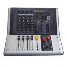 Mixer profesional amplificat WNGR, 2 x 100 W, 4 Ohm, Bluetooth, USB, Phantom & PFL