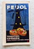 FEDOL terpentines cipokrem.Cromolitografie Imre Földes Feld-Oradea 1923.