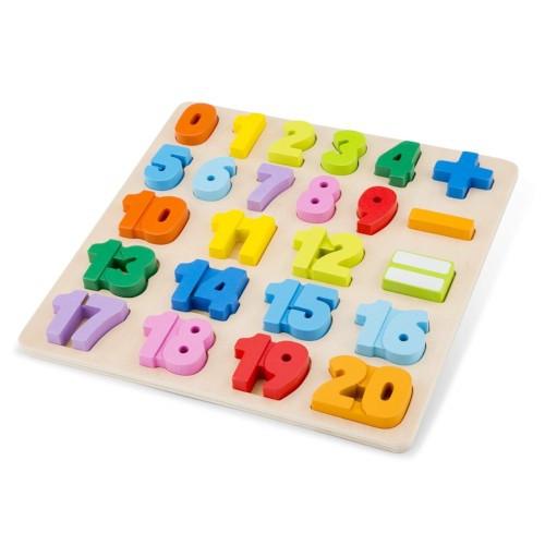 Puzzle din Lemn cu Numere