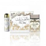 PURE MUSK Lattafa Set, Apa de parfum, 100 ml + 50 ml deospray, Parfum Arabesc Oriental