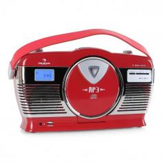 Auna Radio portabil Retro Vintage RCD-70 culoare roșie