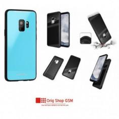 Husa Silicon GLASS Samsung J320 Galaxy J3 2016 Albastru