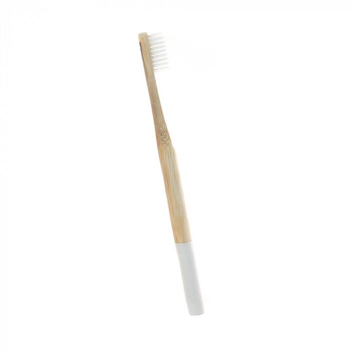 Periuta de dinti clasica, maner rotund, culoare alb, model PC02