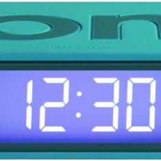 Ceas cu Alarma - Flip Clock - Turcoaz | Lexon