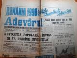 Adevarul 4 ianuarie 1990- articole si foto revolutia romana