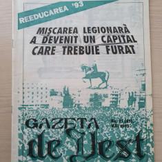 gazeta de vest mai 1993-revista legionara-miscarea legionara devenit un capital