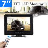 Monitor display  LED auto de 7 inch cu telecomanda si 2 intrari video