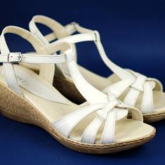 Sandale dama din piele naturala, cu platforma - S474BEJ