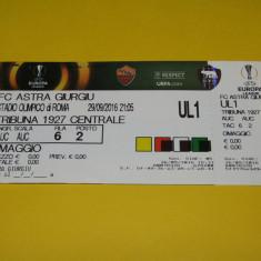 Bilet meci fotbal AS ROMA - ASTRA Giurgiu (Europa League 29.09.2016)