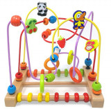 Jucarie circuit din lemn 2 in 1 cu fructe si animale onshine