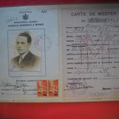 HOPCT CARTE DE MESTER MINISTERUL MUNCII -APRILIE 1948 BUCURESTI