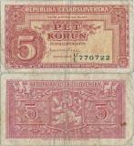 1945 , 5 korun ( P-59a ) - Cehoslovacia