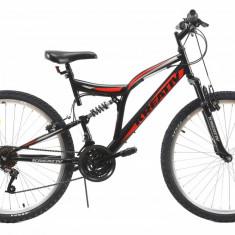 Bicicleta Mtb Kreativ 2641 Negru Rosu M 26 inch, V-brake