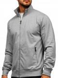 Bluză gri cu fermoar Bolf JX9913