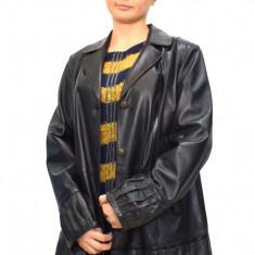 Haina dama, din piele naturala, Kurban, 19-01-95, negru