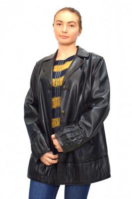 Haina dama, din piele naturala, marca Kurban, 19-01-95, negru , marime: XL foto