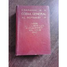 CODUL GENERAL AL ROMANIEI VOL. XXVIII 1940 - I -
