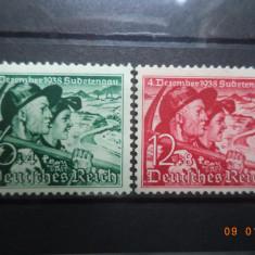 1938  Germania ( Reich ) Mi 684 - 685  Serie completa**, Nestampilat