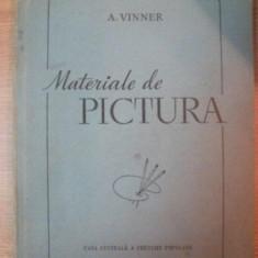MATERIALE DE PICTURA. ULEI, ACUARELA, GUASE, TEMPERA SI CULORI DE CLEI 1956