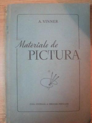 MATERIALE DE PICTURA. ULEI, ACUARELA, GUASE, TEMPERA SI CULORI DE CLEI 1956 foto