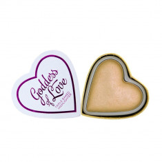 Iluminator Makeup Revolution I Heart Makeup Blushing Hearts Baked Highlighter Golden Goddess 10g, I Heart Revolution