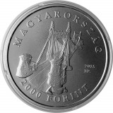F.RAR - Ungaria moneda comemorativa 2000 forint 2015 Szell Kalman -BU in capsula, Europa, Cupru-Nichel